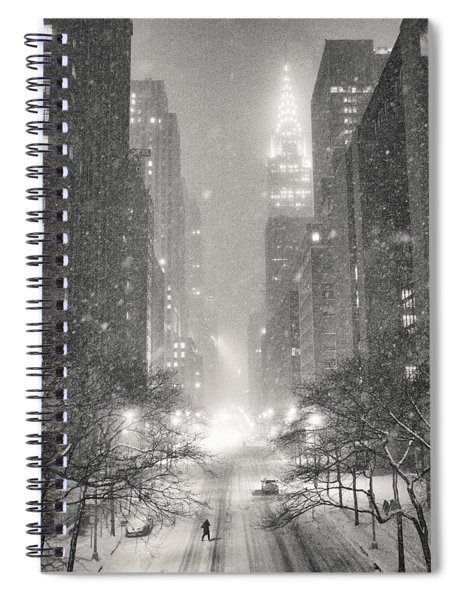 New York City - Winter Night Overlooking The Chrysler Building Spiral Notebook