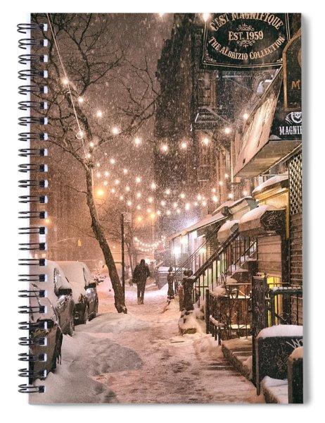 New York City - Winter Snow Scene - East Village Spiral Notebook by Vivienne Gucwa