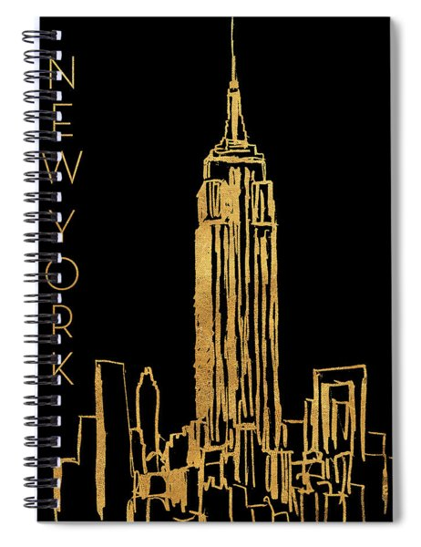 New York On Black Spiral Notebook