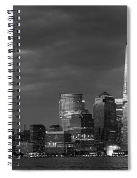 New York City Panoramic Skyline Spiral Notebook