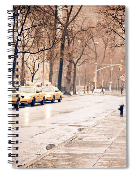 New York Rain - Greenwich Village Spiral Notebook