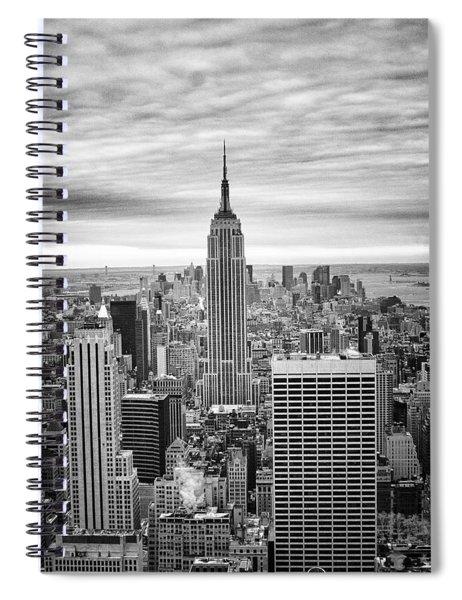 Black And White Photo Of New York Skyline Spiral Notebook