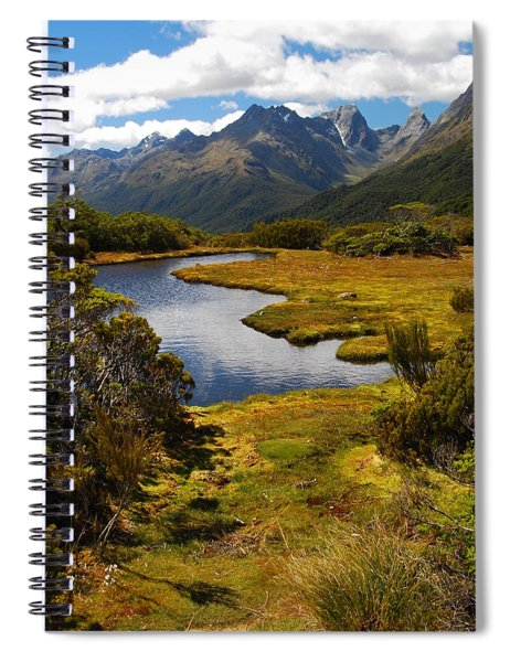 New Zealand Alpine Landscape Spiral Notebook