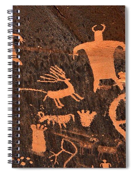 Newspaper Rock Close-up Spiral Notebook