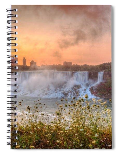 Niagara Falls Canada Sunrise Spiral Notebook