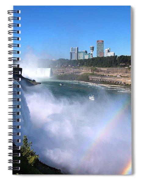 Niagara Falls Double Rainbow Spiral Notebook