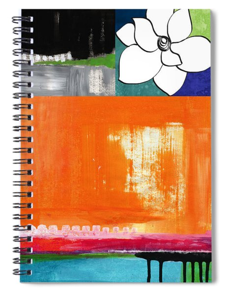 Night Bloom- Colorful Abstract Art Spiral Notebook
