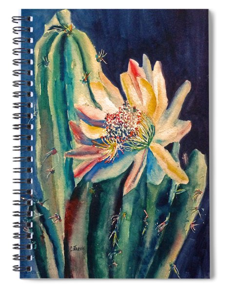 Night Blooming Cactus Spiral Notebook
