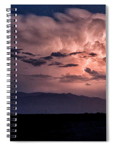 Night Lightning Spiral Notebook