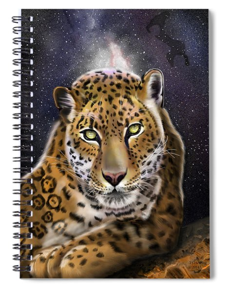 Fourth Of The Big Cat Series - Leopard Spiral Notebook