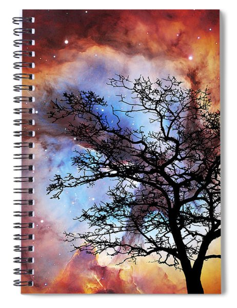 Night Sky Landscape Art By Sharon Cummings Spiral Notebook