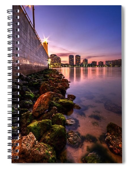 Night Tide In The Palm Beaches Spiral Notebook