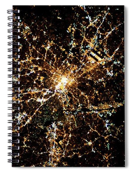 Night Time Satellite Image Of Atlanta Spiral Notebook