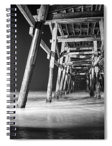 Night View Under San Clemente Pier Spiral Notebook