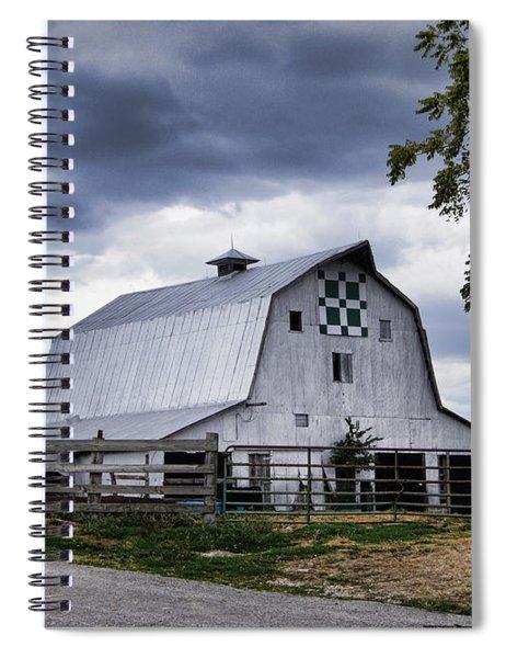 Nine Patch Quilt Barn Spiral Notebook