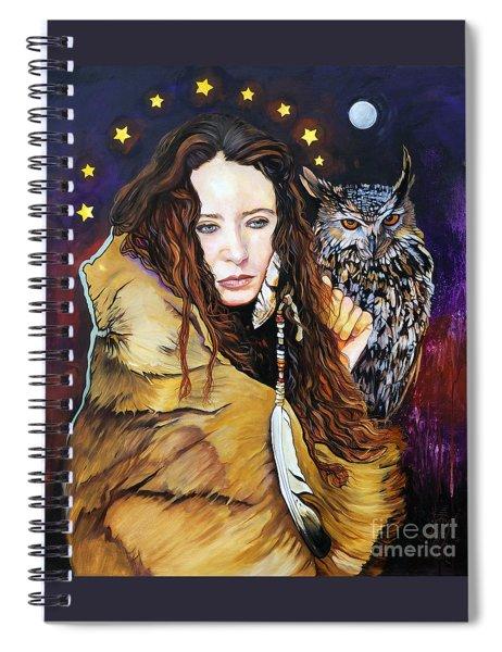 Nine Stars Woman / Owl Medicine Spiral Notebook