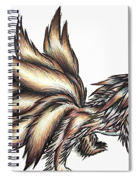 Nine Tails Wolf Demon Spiral Notebook