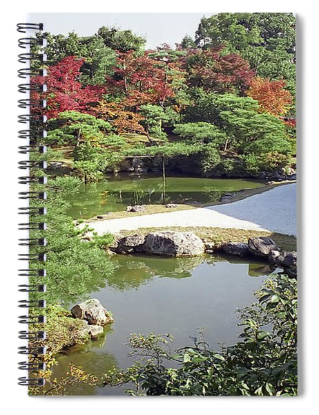 Ninna-ji Temple Garden And Pond - Kyoto Japan Spiral Notebook