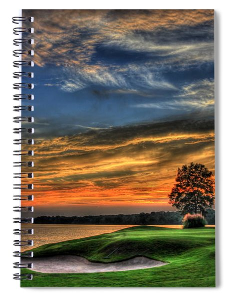 No Better Day Golf Landscape Art Spiral Notebook