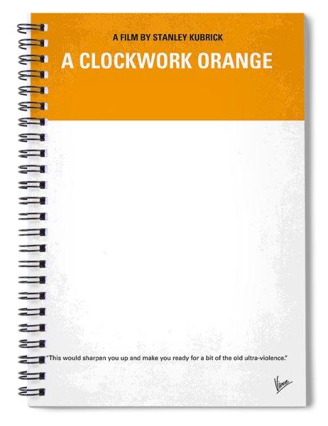 No002 My A Clockwork Orange Minimal Movie Poster Spiral Notebook