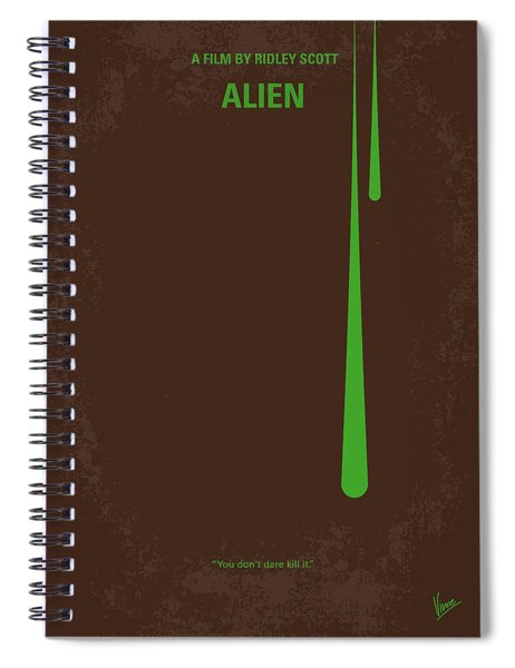 No004 My Alien Minimal Movie Poster Spiral Notebook