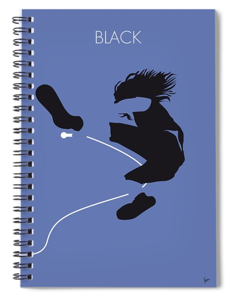 No008 My Pearl Jam Minimal Music Poster Spiral Notebook