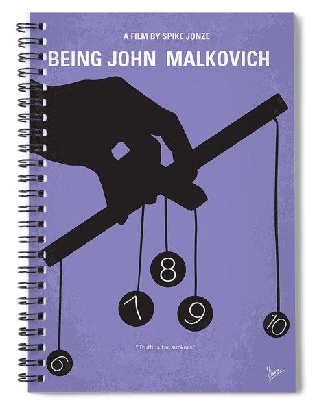 No009 My Being John Malkovich Minimal Movie Poster Spiral Notebook