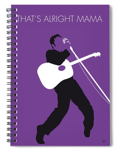 No021 My Elvis Minimal Music Poster Spiral Notebook