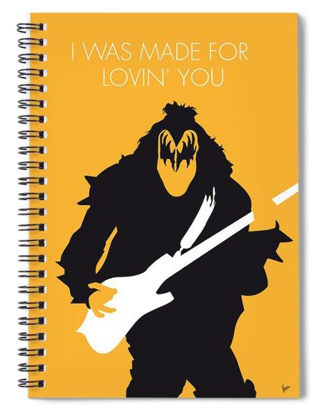 No024 My Kiss Minimal Music Poster Spiral Notebook