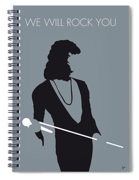 No027 My Queen Minimal Music Poster Spiral Notebook