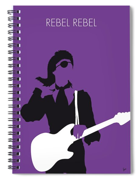 No031 My Bowie Minimal Music Poster Spiral Notebook
