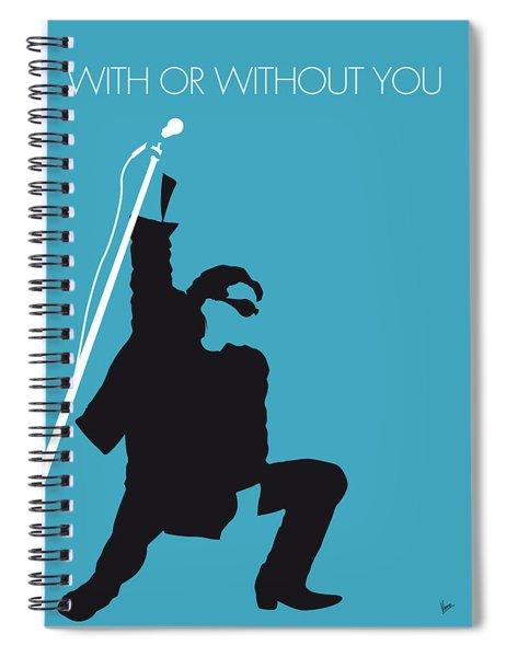 No035 My U2 Minimal Music Poster Spiral Notebook