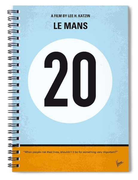 No038 My Le Mans Minimal Movie Poster Spiral Notebook