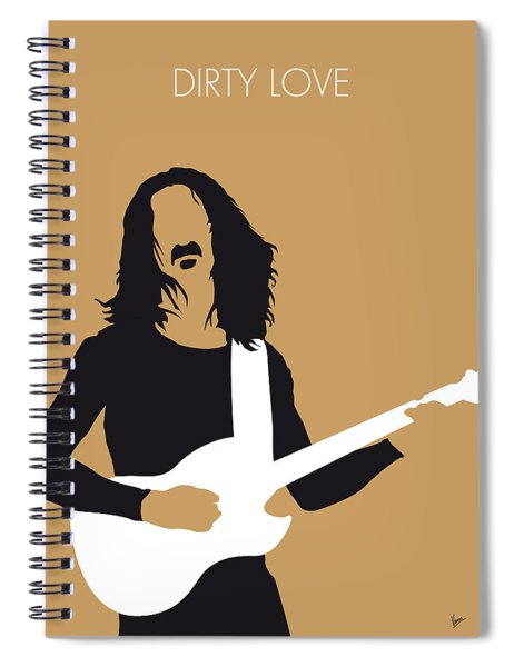 No040 My Frank Zappa Minimal Music Poster Spiral Notebook by Chungkong Art
