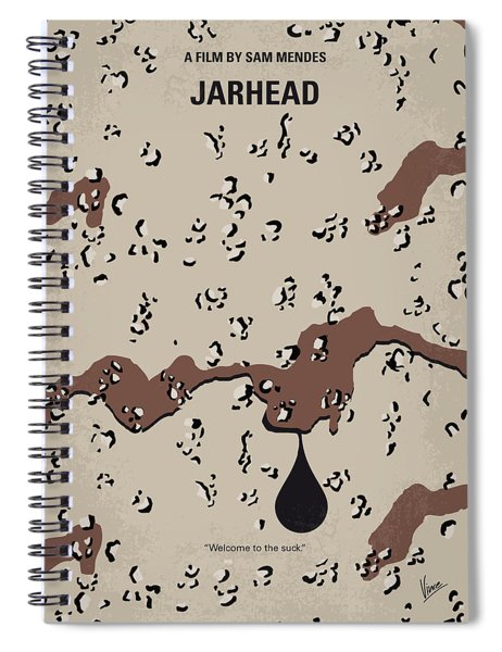 No045 My Jarhead Minimal Movie Poster Spiral Notebook