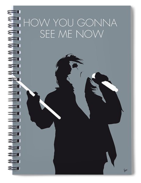 No047 My Alice Cooper Minimal Music Poster Spiral Notebook