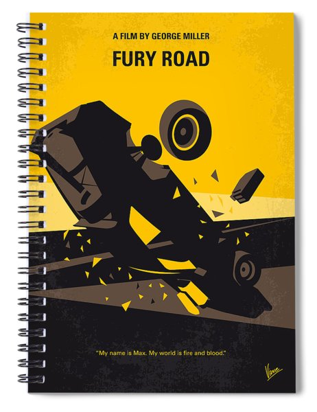 No051 My Mad Max 4 Fury Road Minimal Movie Poster Spiral Notebook