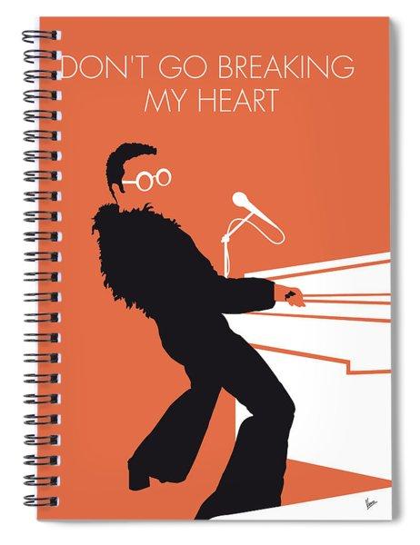 No053 My Elton John Minimal Music Poster Spiral Notebook