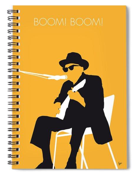 No054 My Johnny Lee Hooker Minimal Music Poster Spiral Notebook