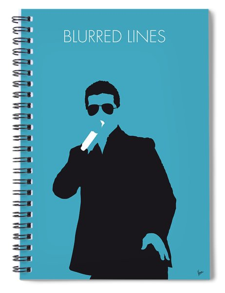 No055 My Robin Thicke Minimal Music Poster Spiral Notebook