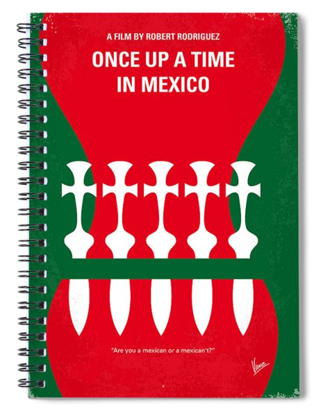 No058 My Once Upon A Time In Mexico Minimal Movie Poster Spiral Notebook
