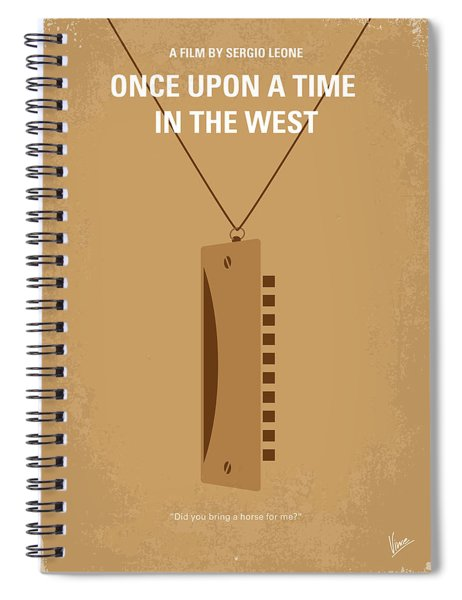 No059 My Once Upon A Time In The West Minimal Movie Poster Spiral Notebook