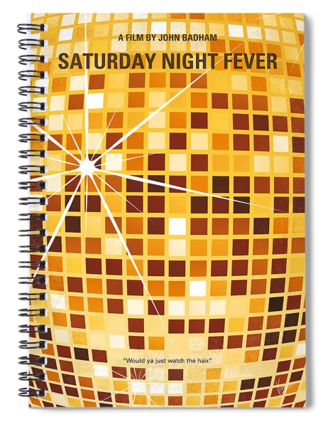 No074 My Saturday Night Fever Minimal Movie Poster Spiral Notebook