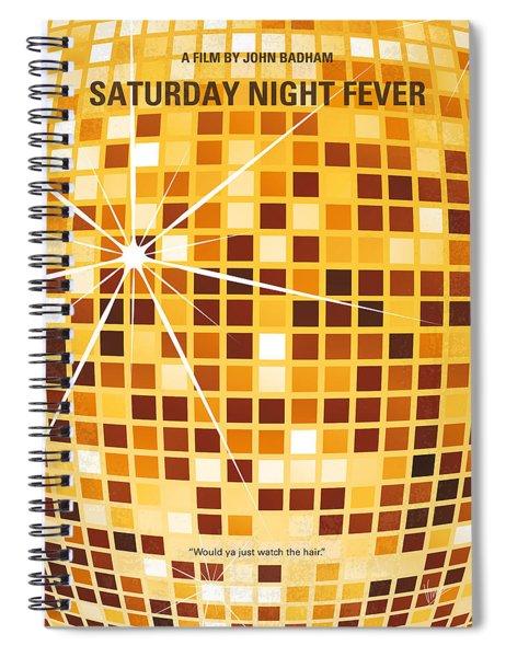 No074 My Saturday Night Fever Minimal Movie Poster Spiral Notebook