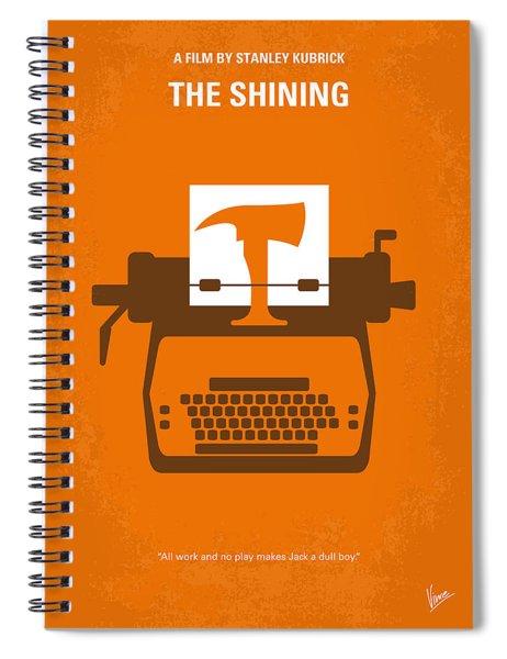 No094 My The Shining Minimal Movie Poster Spiral Notebook by Chungkong Art