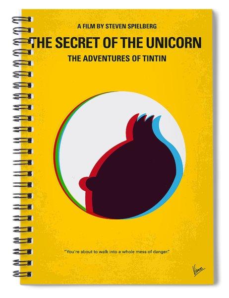 No096 My Tintin-3d Minimal Movie Poster Spiral Notebook