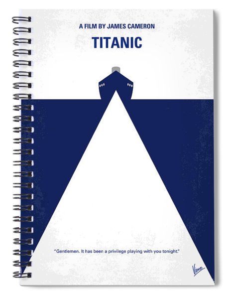 No100 My Titanic Minimal Movie Poster Spiral Notebook