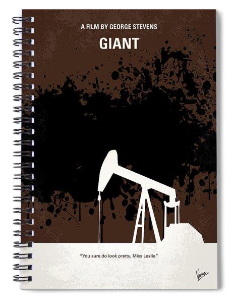 No102 My Giant Minimal Movie Poster Spiral Notebook