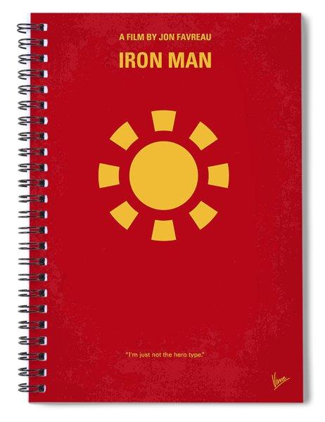 No113 My Iron Man Minimal Movie Poster Spiral Notebook