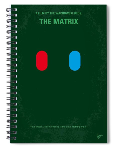 No117 My Matrix Minimal Movie Poster Spiral Notebook